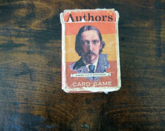 Vintage Authors Card Game, Whitman Authors, Mini card game, American Lit , British Lit