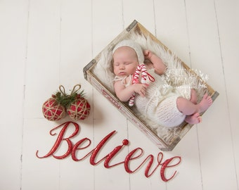 Instant Download Photography Prop -- Believe in Christmas -- DIGITAL BACKDROP for Photographers