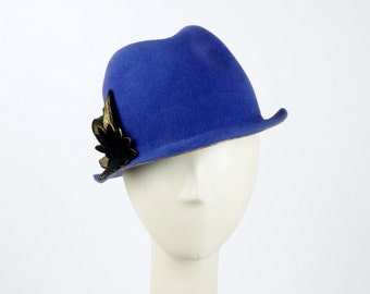 Violet Trilby HAT - Stingy Brim Fedora - Felt Hat for WOMEN - Women's Felt Hat - Fashion Forward Hat - Ladies Winter Hat - Hat for Women