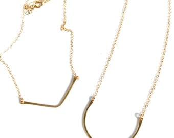Chevron and Horseshoe necklace