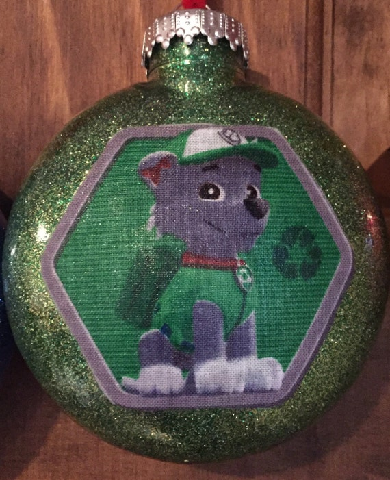 Rocky Paw Patrol Christmas ornament