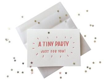 Confetti Tiny Party letterpress card