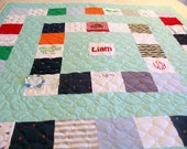 """Reserved for Alicia J. - Quilts Made from Baby Clothes Lap Size 58"""" x 72"""" (40 to 50 Clothing Items) - BALANCE LISTING (50%)"""