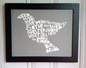 Acts of Mercy Screen Print Grey - Third Edition