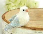 Dove Beaded Miniature Figurine Bird Spring Decoration Mother's Day Gift Animal Totem *READY TO SHIP
