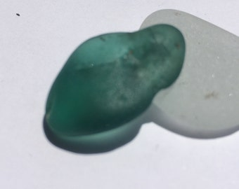 RARE Teal Greenish  Bonfire Sea Glass   Pendant  FREE Shipping (214)