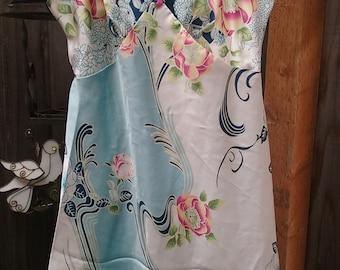Vintage Oscar De La Renta Short Sleeveless Slip Dress Lingerie Sleepwear Size Small