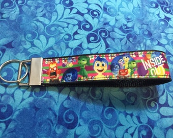 Inside Out Key Fob Keychain wristlet