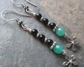 Blossom ~ Agate & Jade earrings ~ Zen style jewelry