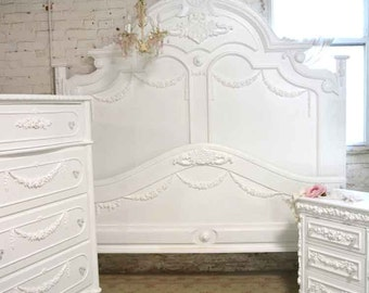 Painted Cottage Shabby Chic French Bed King / Queen