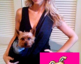 Little Rubi Pet carrier sling for dogs cats tote bag purse Blue denim