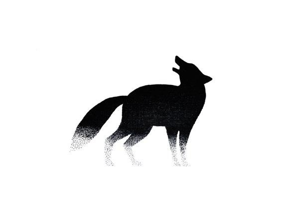 minimalist ink print: Howl