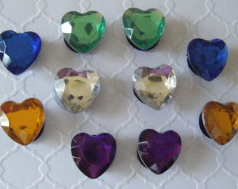 Heart Crystal Shoe Charms & Magnets