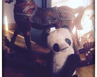 St. Valentine Day SALE 22 inch Artist Handmade Giant Teddy Panda Guang by Sasha Pokrass