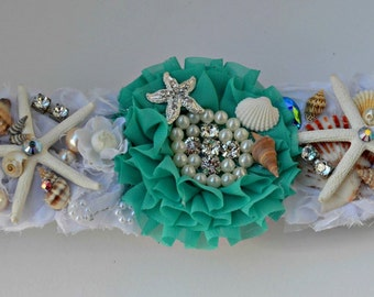 Dog Collar Slide - Wedding - Seashell Beach Collar Accessory
