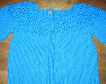 Girl Sweater Size 10, Girl Cardigan Size 12, Blue Knit Sweater, Mustard Yellow Cardigan, Girl Wool Sweater, Brown Wool Sweater Size 10