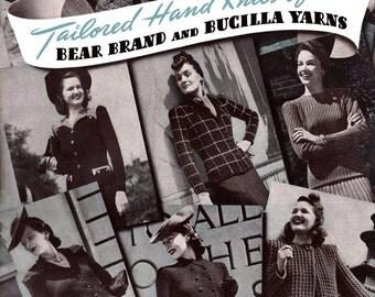 Bear Brand & Bucilla #321 c.1941 - 1940's Tailored Hand Knitting Patterns for Women (PDF EBook Digital Download) Plus FREE Book