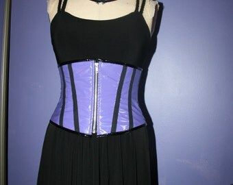 Purple Pvc Under bust corset