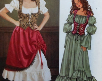 Gypsy / Fortune Teller Costume Sewing Pattern UNCUT Butterick 3906 Sizes 18-22 Plus Size
