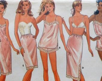 Lingerie Sewing Pattern UNCUT Butterick 5740 Sizes 18-22 Plus Size slip, camisole, teddy, half-slip