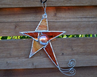 Stained Glass Shooting Star-Handmade-Suncatcher-House Warming-Mothers Day-Fathers Day-Birthday-Anniversary-Gift for Her or Him-Unique Gift