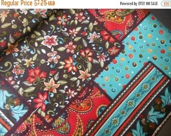 Paisley Mix Fabric--Vintage Style--HARD Find