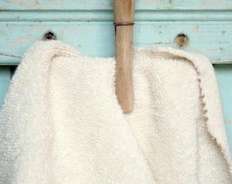 SALE Today Organic Terry Cloth Fabric Half Yard Cut - Made in US Terrycloth Towel GOTS Certified Organic Cotton Fabric Make Baby Washcloth B