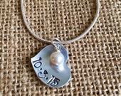 Custom Hand Stamped Necklace, Aluminum Heart Hand Stamped Necklace, Custom Heart Necklace, Hand Stamped Jewelry, Custom Necklace