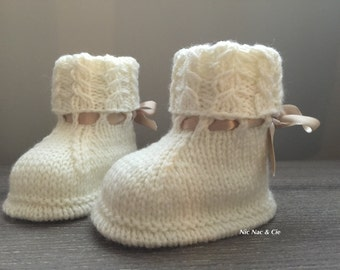 Baby shoes (0/3 months) white