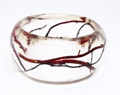 Curly Willow Branches in a Resin Bracelet.  Resin Jewelry.  Personalized Bracelet.  Minimalist Jewelry.  Contemporary Jewelry.