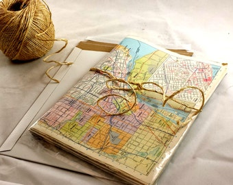 World map gift etsy vintage world map gift wrap world wide map wrapping paper 10 sheets authentic vtg gumiabroncs Choice Image