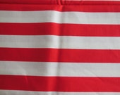 Red Stripes Cotton Fabric / Riley Blake Designs Cotton Material / 1 yard