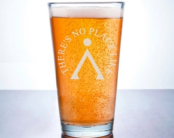 Stargate Inspired - Etched Pint Glass - Portal Hopping Drinkware - Etched Barware - Mythology - Sci Fi - Fantasy
