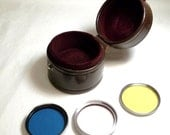 3 Camera filters in Nippon Leather Box Filter Case ,Walz  #14 B7,Tiffen 43 MM  Pink Sky and Nikon Yellow Y 48  43mm