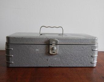 Vintage Metal Box with Key