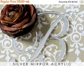 ON SALE Monogram Cake Toppers, Silver Mirror Letter Initials Cake Topper for Wedding Cakes any Initial or Letter