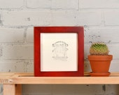 6x6 frame SALE In Stock - 6x6 Square Photo / Picture Frame in 1x1 Flat Style with Vintage Red Dye Finish - Same Day Shipping - 6 x 6