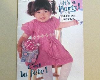 Toddler Children Knitting Pattern Book Sizes 2 to 8 Sweater Dress