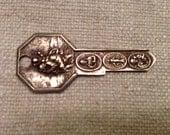 Vintage St Christopher key (RESERVED FOR APRIL)