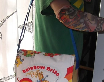 Rainbow Brite  Messenger Bag  / Hip Bag  Medium Size Crossbody