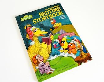 Vintage 1970s Childrens Book / The Sesame Street Bedtime Storybook 1978 VGC Hc / Twelve Short Stories Featuring the Sesame Street Gang