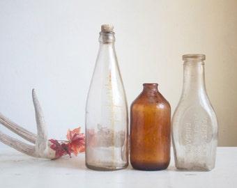 Antique Glass Bottles, Fall Home Decor, Instant Bottle Collection, Brown Glass, Victorian, Yacht Club Bottle, Medicine Bottle