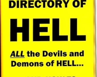 YELLOW PAGES Guide Directory to HELL Book