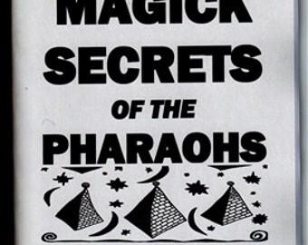 BLACK MAGICK Secrets of the pharaohs book