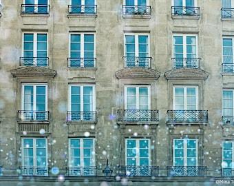 """Paris Photography // Paris Prints // Paris Architecture // French Decor for a modern home // Large Print  - """"Paris Windows"""""""