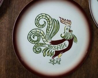 Brock Dinner Plates Rooster