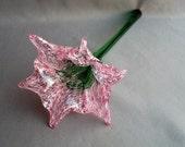 Hand Blown Art Glass Color  Flower