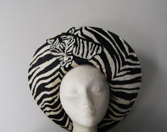 Vintage Zebra Hat by Adolfo II