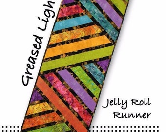 Greased Lightning Jelly Roll Table Runner Tiger Lily Press Quilt Pattern