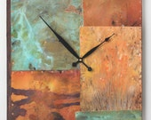14 inch Square Copper and Metal Clock For Lynne V.